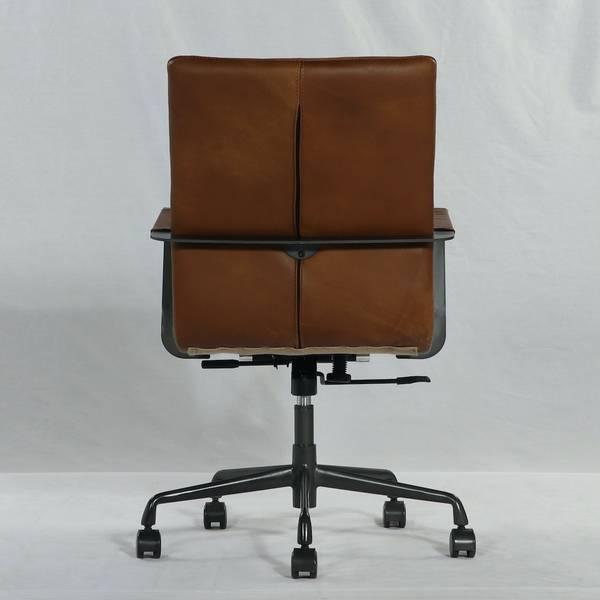 Elliot kontorstol skinn (cognac brown)