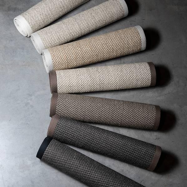 Sisal teppe (200x300 - Antrasitt/brun kant)