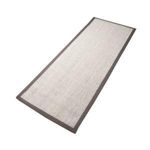 Bilde av Sisal teppe (80x300 - Sand/brun kant)