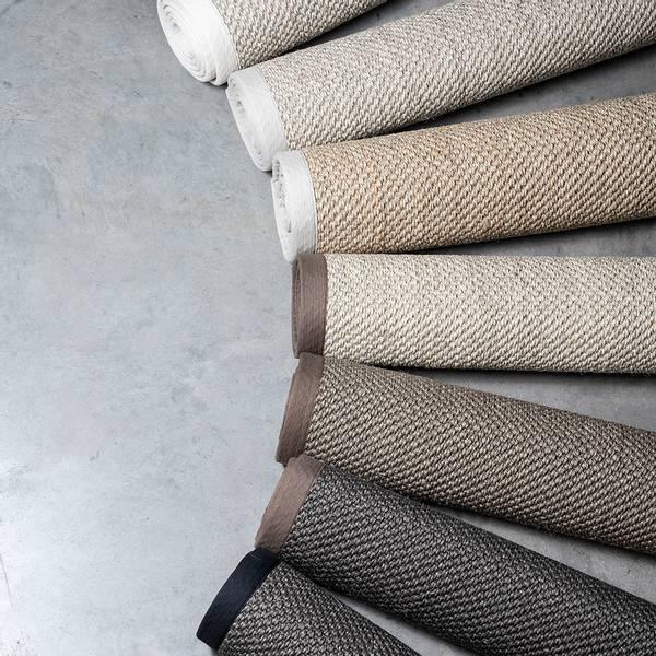 Sisal teppe (80x300 - Sand/krem kant)