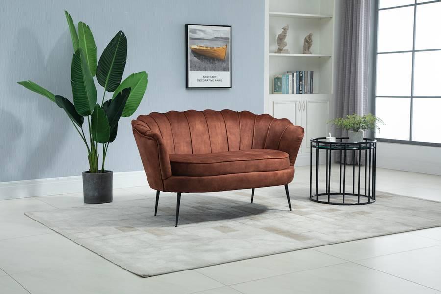 Lotus 2-seter sofa (Adore rust velour)