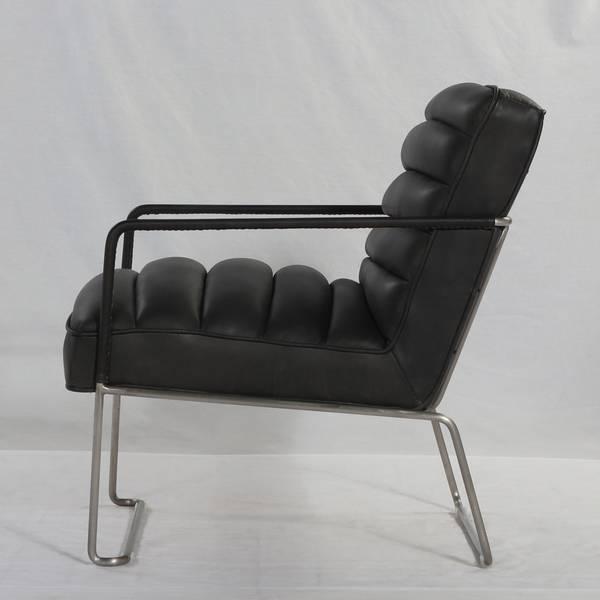 Mercer lenestol skinn (Smooth Black)