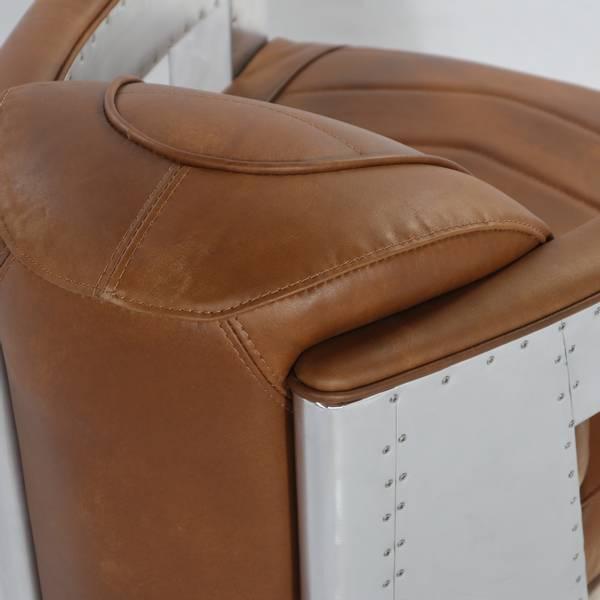 Old Amsterdam skinn lenestol m/metall (Cognac brown)